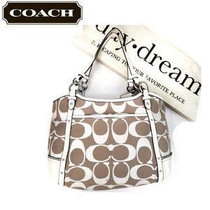 COACH 29321E Alexandra Chain Tan Tote Bag Purse